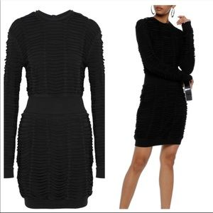 Balmain authentic Sliced Stretch black mini dress